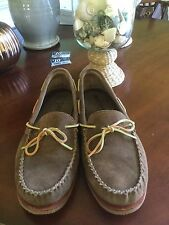 Minnetonka Moccasin Brown Suede Loafers      Size 10.5