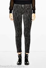 J Brand Jeans Super Skinny Mink Velvet Rainshadow Black & Gray sz 28