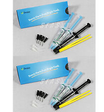 2 sets Dental Whitening Gel Kit For Teeth LED Accelerator Bleaching Light Lamp