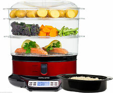 Electric Food Steamer Home Kitchen Vegetable Rice Fish Meat Cooker 3Tier Digital