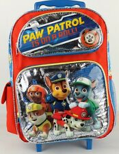 "2016 Brand New Paw Patrol 16"" Large Rolling  Backpack Roller Bag For Kids Boys"