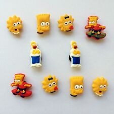 The Simpsons PVC Shoe Charms Accessories for Bracelets/Bands/Croc/Jibbitz 10pcs