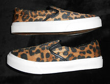 Air Underground Loafer Shoes Womens 6 M Fuzzy Tan Leopard Animal Print NWT Flat