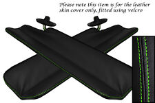 GREEN STITCH FITS MAZDA MX5 MK1 MIATA 89-97 2X SPLIT FOLDING VISOR LTHR COVERS