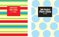 "4"" x 6"" SLIP IN LARGE PHOTO ALBUM WITH WINDOW HOLDS 300 PHOTOS - CHOOSE DESIGN"
