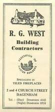 1958 Rg West Building Contractors Federation Master Builders Dagenham Ad