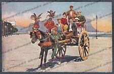 PALERMO COSTUME SICILIANO 09 SICILIA FOLKLORE - CARRO CARRETTO Cartolina