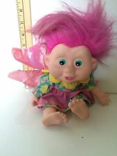 Vintage 1991 Fairy Troll Doll, Made By Applause, 12 Inches Tall, Pink Hair,