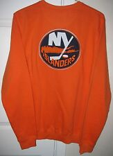 NHL New York Islanders Crew Neck Sweatshirt Orange Medium