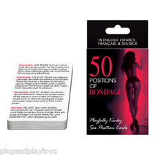 50 Positions of Bondage Adult Sex Card Game Kama Sutra Couple Role-Play Gag Gift
