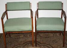 Pair of Danish Style Mid-Century Teak and Oak Armchairs [PL1534]