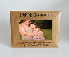 Godmother Frame- I heart-Love My Godmother 6 x 4 Photo Frame - Free Engraving