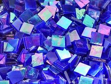 """100 1/2"""" Dark Blue Pearl Stained Glass Mosaic Tiles"""