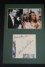 PIERRE BRICE & EDDIE CONSTANTINE  signed  Autogramm A4  In Person Passepartout