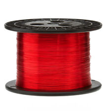 "23 AWG Gauge Enameled Copper Magnet Wire 5.0 lbs 3169' Length 0.0236"" 155C Red"
