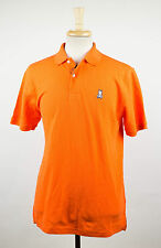 New. PSYCHO BUNNY By Robert Godley Orange Cotton Casual Polo Shirt 7/XL $85