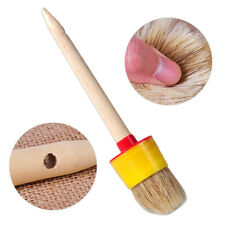 50mm Wooden Handle Round Oil Wax Watercolor Paint Bristle Chalk Brush Artist New