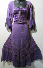 Valentines Dress Fits 1X 2X Plus Renaissance Purple Corset Lace Up Chest NWT 522