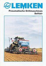 Lemken Pneum. Drillmaschinen Solitair Prospekt 11/99