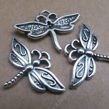 20pc Retro Tibetan Silver Dangle Dragonfly Animal Pendant Charms Findings 494AF