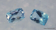 Faceted Aquamarine Gemstone Pair Aquamarin Edelstein Paar Aquamarina 1.57 ct