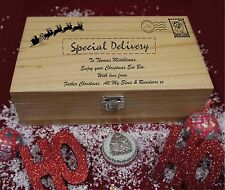 Personalised Wooden Christmas Eve Box Special Delivery from santa and elves