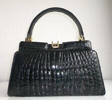 EXCELLENT!! GENUINE CROCODILE SKIN BAG, LARGE, VINTAGE