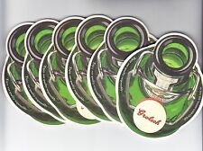 Lot of ( 6 ) Grolsch Beer Coasters - Home of Premium Lager From The Netherlands