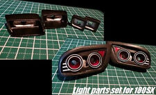 D'Magic 1/10 RC Car FRONT+ REAR LIGHT BUCKETS For NISSAN 180SX Body  -Painted-