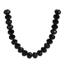 100pcs Black 5040# Glass Crystal Faceted Rondelle Spacer Loose Beads 4x3mm