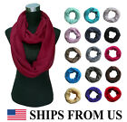 * Ships from US * Solid Color Women's Infinity Loop Scarf Plain Lightweight Soft