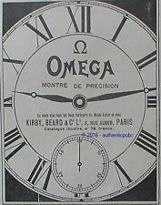 PUBLICITE OMEGA MONTRE DE PRECISION GOUSSET KIRBY BEARD DE 1918 FRENCH AD PUB