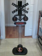 Lionel Train Railroad Crossing Sign Coin Bank With Lights & Sound 4' Tall
