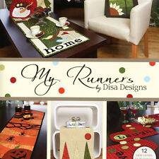 MY RUNNERS Quilt Applique Projects Disa Designs Christmas Easter Sunflower Love