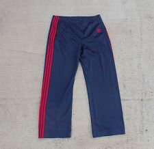 Vtg 80s Adidas Trefoil Track Pants Navy Blue Red 38x32 40 Large Made In USA