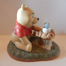"DISNEY POOH & FRIENDS ""WELCOME LITTLE ONE"" WINNIE THE POOH FIGURINE 4"""