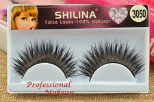BLACK FALSE EYELASHES THICK LONG DRAMATIC FALSE EYELASHES NATURAL EYELASHES 3050