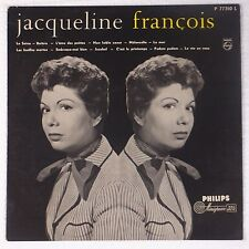 JACQUELINE FRANCOIS: Rare FRANCE Chason Female Vocals PHILIPS Orig 50s LP
