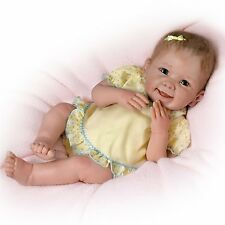 Ashton Drake Tummy Tickles Touch-Activated Baby Doll By Linda Murray