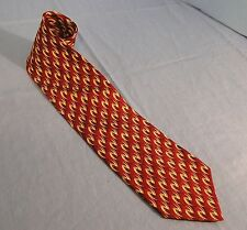 ALTEA FOR NORDSTROM WAVY DESIGNS ON MAROON. 100% SILK TIE NECKTIE
