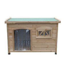 XLarge Log Cabin Timber Pet Dog Kennel House with door entrance & window T034