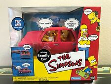 The Simpsons World of Springfield Talking Family Car by Playmates - MIB