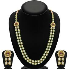 Sukkhi Shimmering Gold Plated Kundan Two String Necklace Sets(2171NKDS2250)
