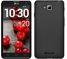 Amzer Exclusive Pudding Matte TPU Case Cover per LG Optimus L9 II D605-Nero
