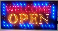 Hanging LED Welcome Open Sign Color Display Scrolling Animated Outdoor Neon New