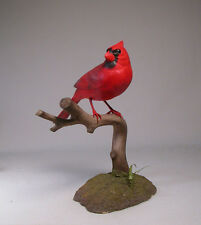 "Life size 7"" Male Cardinal Original Bird Carvings/Birdhug"