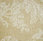 Oilcloth natural linen French floral toile design wipe clean tablecloth