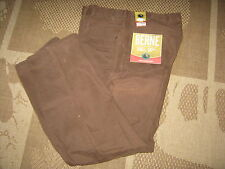 Berne Mens Bark Relax Fit Sanded Duck Carpenter Jeans Size 38 Waist X 32 Inseam