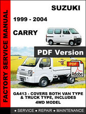 SUZUKI CARRY 1999 - 2004 ENGINE TRANSMISSION BRAKE SERVICE REPAIR REPAIR MANUAL