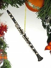 "Musical Instrument Christmas Ornament (6.5""Black Clarinet), New, Free Shipping"